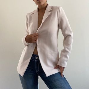 CYNTHIA ROWLEY LIGHT PASTEL BLUSH BLAZER